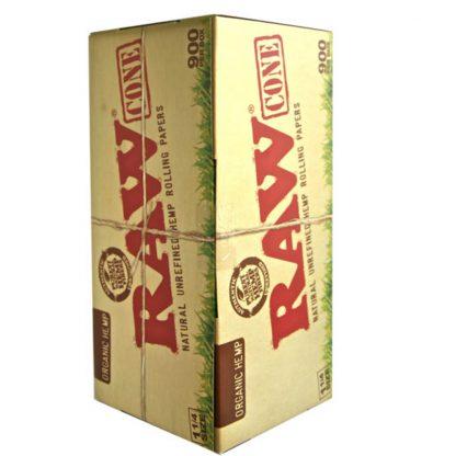 900 Raw Cones (BULK) - Organic Hemp - 1 & 1/4 Size